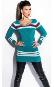 Delicious long knit sweater with slim fit