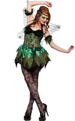 F1473 Sexy Green Absinthe Fairy Gothic Costume