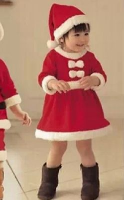 F68006-2 2-4 Years Kids Girl Dress  Novelty Costume Baby Christmas Clothing Sets