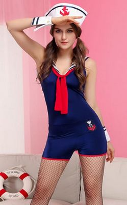 F1528Navy Sailor Romper Costume