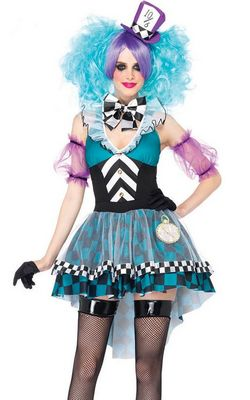 F1536 Manic Mad Hatter Adult Womens Costume