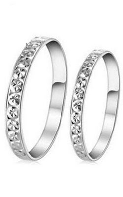SS11045 Starry couple rings S925 sterling silver rings
