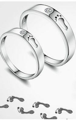 SS11049 S925 sterling silver couple ring