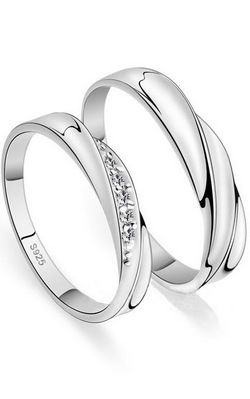 SS11050 S925 silver couple rings