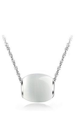 SS11055 S925 sterling silver opal necklace
