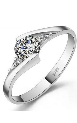 SS11057 Silver  wedding rings couple
