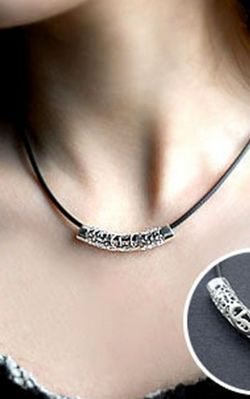 SS11060 Retro necklace long hollow tube