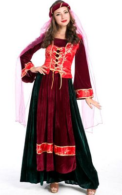 F1605 Noble Medieval Royal Persian Queen Costume