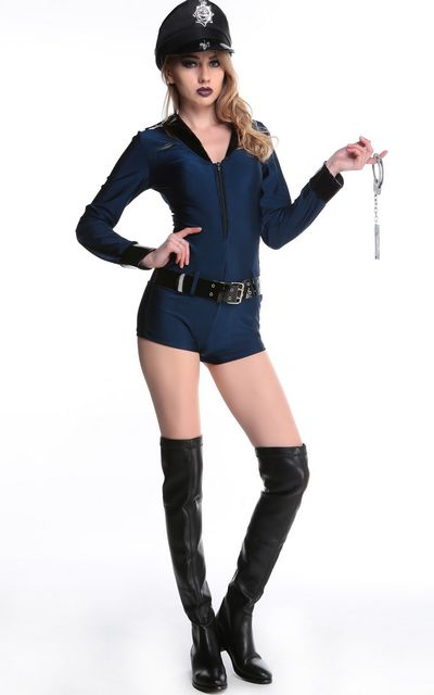 F1606 Police Woman Sexy Cop Costume