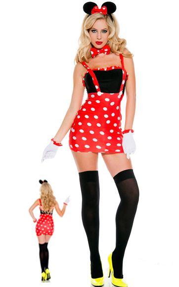 1f4dba1bd2 F1607 Sexy Darling Miss Minnie Mouse Costume