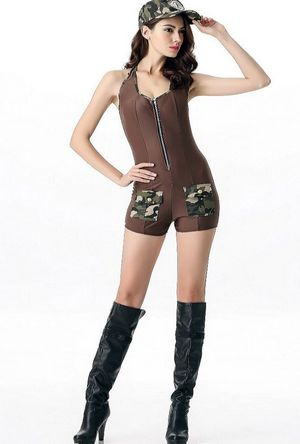 F1644 Sultry Soldier Costume
