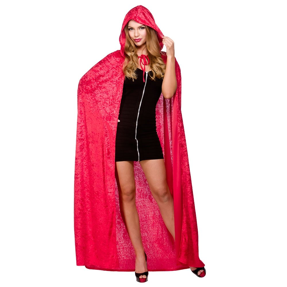 Lace Hooded Cape Costume Adult Halloween Fancy Dress