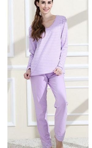 SL80004-2  lovely purified cotton sweet long sleeved pajamas set for women