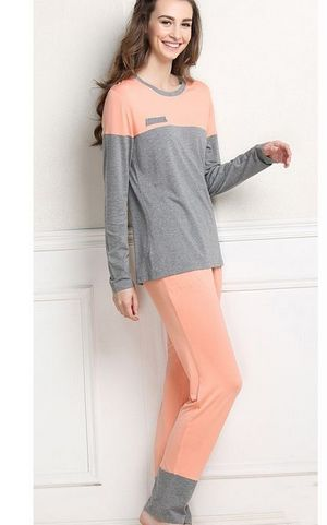 SL80007 Multiple colors long sleeved ladies pajamas set wholesale