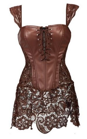 F66361 sexy Steampunk overbust corset