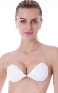 N049-2 white lace Invisible Bras