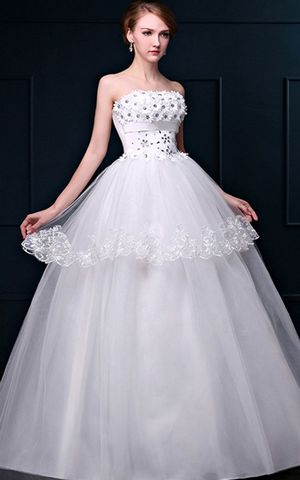 WDDH1647  white bride wedding dress