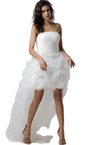 WF56797 Short Beach Wedding Princess Dress