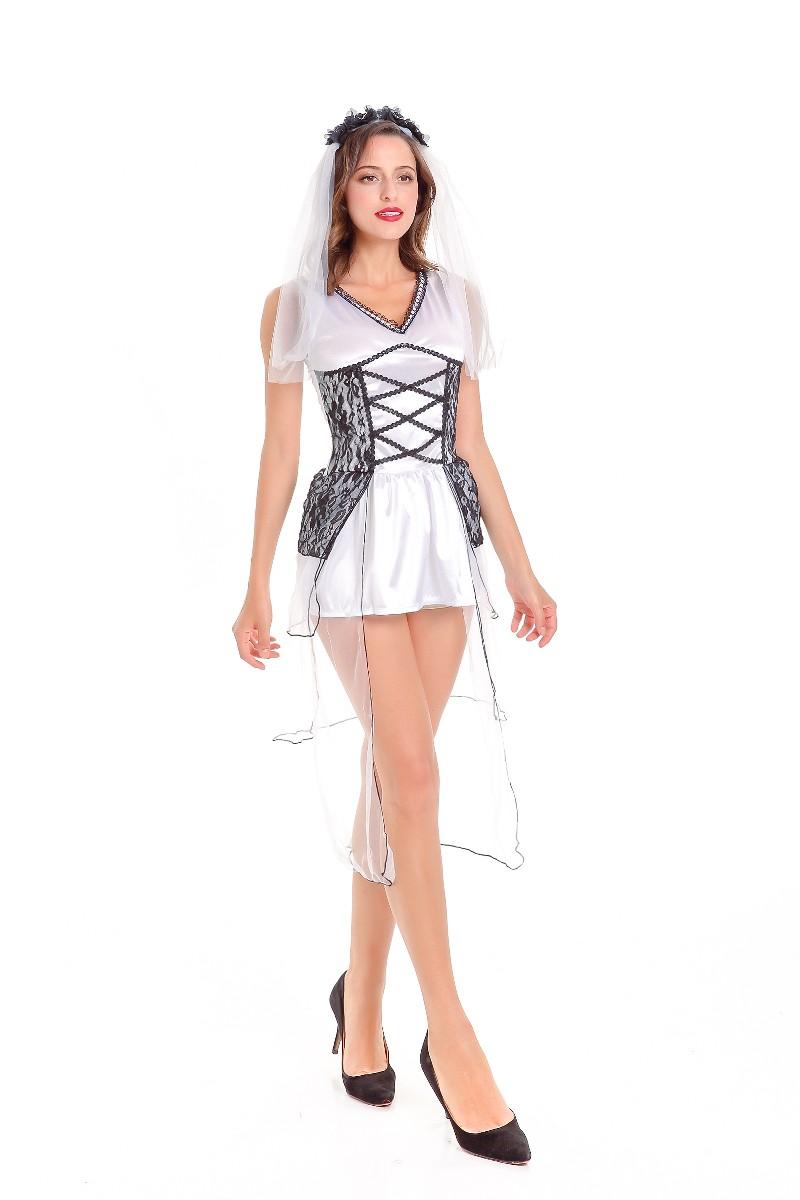 d0120892569 F1786 Halloween Corpse Fancy Dress Party Zombie Wedding Deathly ...