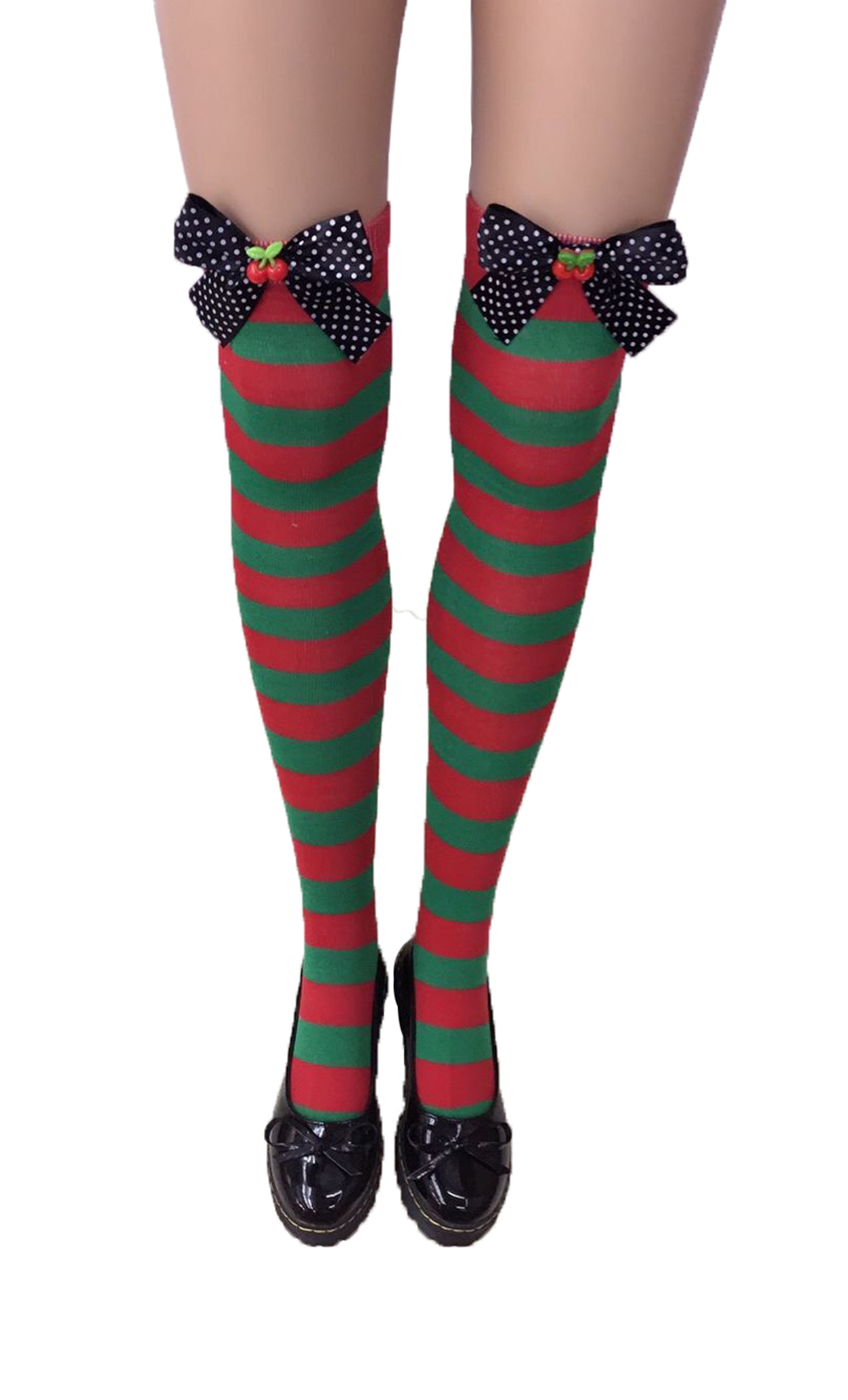 F8192-1 Nylon Cute Sexy Striped Stockings For Halloween
