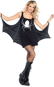 BY89050-2 Black Jersey Dress Spiderweb Cosplay Costume