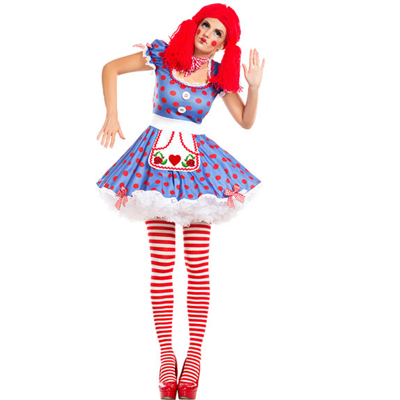 F1799  Harlequin Circus Mime Cirque Clown Jester Fancy Dress Halloween Costume