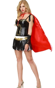 F1820  Halloween Sexy Gladiator Costume for Women Adult Role Play Costume S-XXL