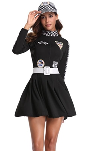 F1823 Racing Girls Costume Car Driver Nascar Racer Halloween Cosplay fancy dress