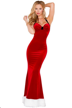FC145 Sexy Mermaid Maxi Dress Backless New Year Fantasy Christmas Costumes