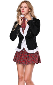 F1092A Adult Naughty School Girl Costume