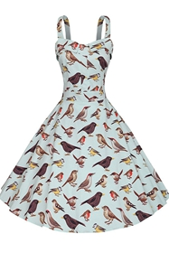 SZ60091-2 1950s Vintage Rockabilly Floral Sleeveless Swing Casual Cocktail Dress