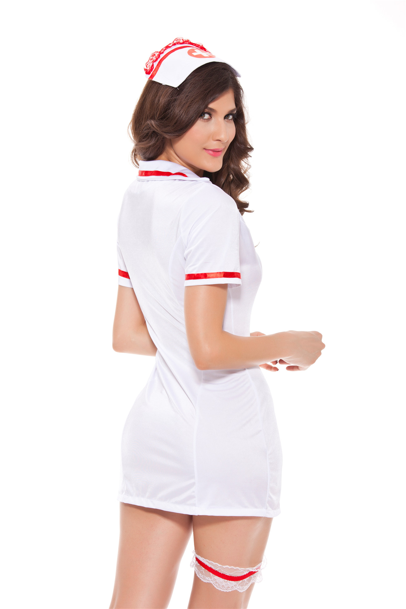 SZ60099 Sexy Nurse Cosplay Costume Retro Nurse Costume  Sexy Nurse Dres