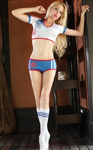 F1833 World Cup Cheerleader Uniform Top  Shorts  Sock