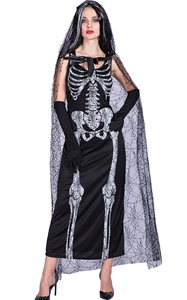 F1857 skeleton costume women