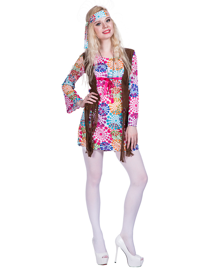 F1869 hippie costume for women
