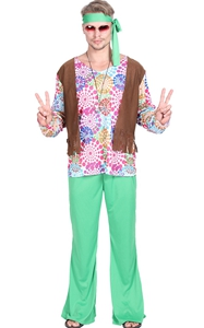 F1870 Fanstast Costumes Mens Hippie Halloween Costume