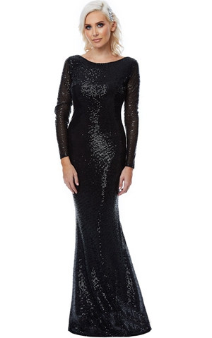 W25061-2 mermaid sequin dress