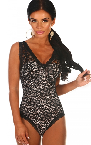 BY32242-2 Lace Structured Cup Sleeveless Bodysuit