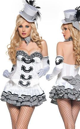 White Cigarette Girl Costume