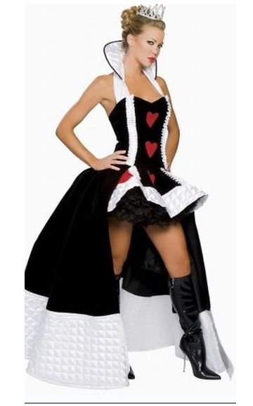 Sexy Enchanting Queen Of hearts Fancy Costume