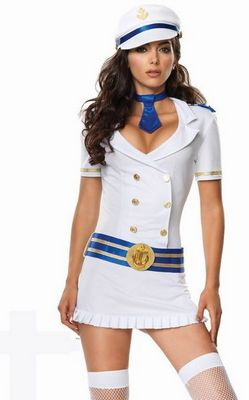 Captivating Naval Captain Costume